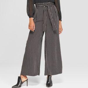 striped paper bag pants!